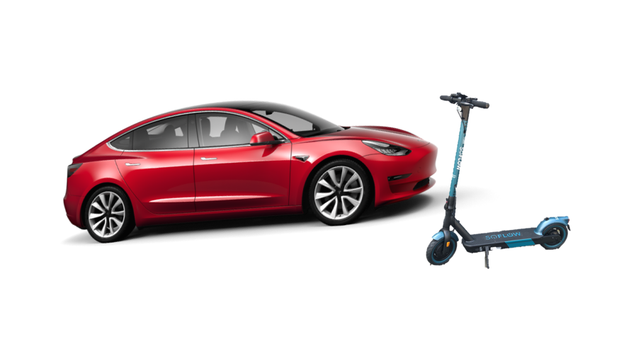 Tesla-Model-3-SoFlow-E-Scooter